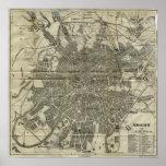 Mapa del vintage de Moscú (1893) Impresiones