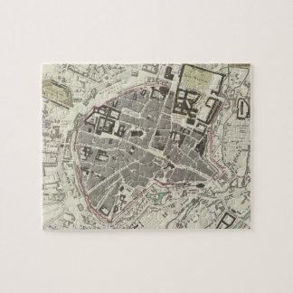 Mapa del vintage de Munich Alemania (1832) Puzzle
