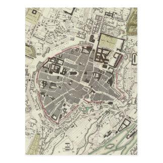 Mapa del vintage de Munich Alemania (1832) Postales