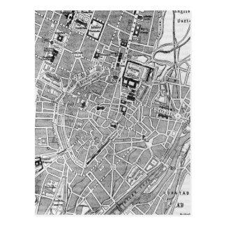 Mapa del vintage de Munich Alemania (1884) Postales