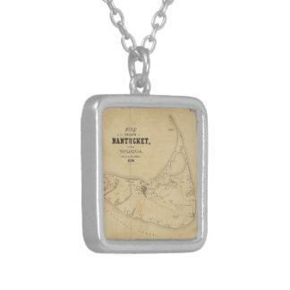 Mapa del vintage de Nantucket 1838 Joyeria Personalizada