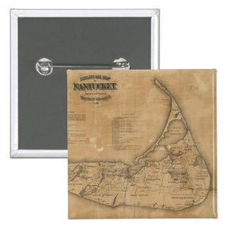 Mapa del vintage de Nantucket 1869 Pin