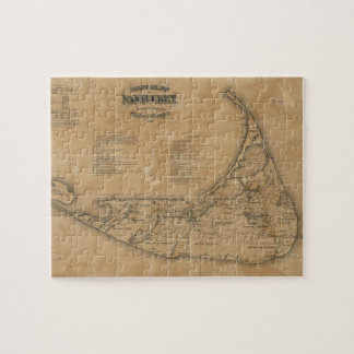 Mapa del vintage de Nantucket 1869 Puzzle Con Fotos