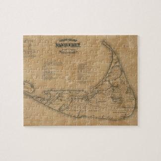 Mapa del vintage de Nantucket (1869) Puzzles