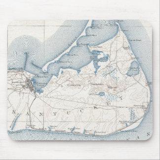 Mapa del vintage de Nantucket (1919) Alfombrilla De Ratones