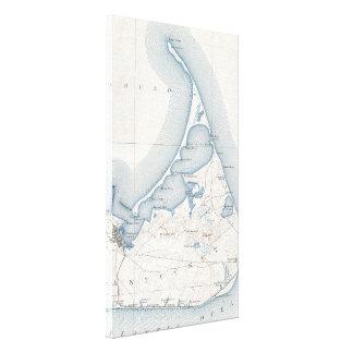Mapa del vintage de Nantucket (1919) Impresiones De Lienzo
