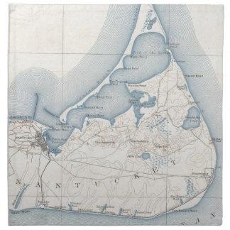 Mapa del vintage de Nantucket (1919) Servilletas De Papel