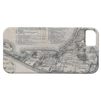 Mapa del vintage de Nantucket iPhone 5 Fundas