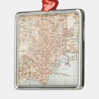 Mapa del vintage de Nápoles Italia (1897) Ornamento Para Reyes Magos