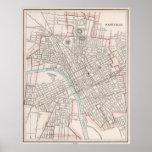 Mapa del vintage de Nashville Tennessee (1901) Póster