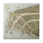 Mapa del vintage de New Amsterdam (1660) Azulejos