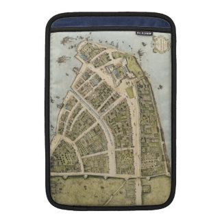 Mapa del vintage de New Amsterdam (1660) Fundas Para Macbook Air