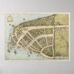 Mapa del vintage de New Amsterdam (1660) Impresiones