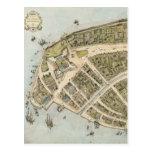Mapa del vintage de New Amsterdam (1660) Postal