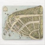 Mapa del vintage de New Amsterdam (1660) Alfombrillas De Raton
