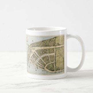 Mapa del vintage de New Amsterdam 1660 Taza De Café