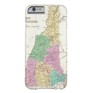 Mapa del vintage de New Hampshire (1827) Funda Barely There iPhone 6