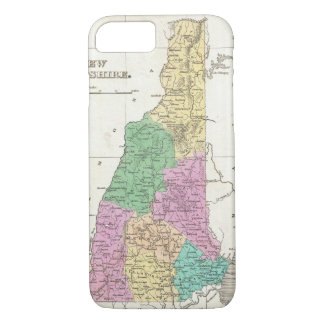 Mapa del vintage de New Hampshire (1827) Funda iPhone 7