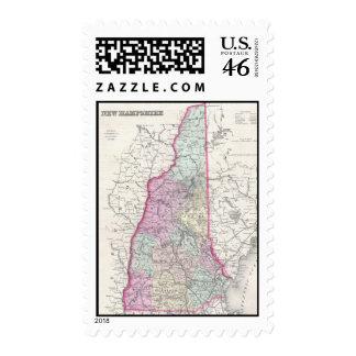 Mapa del vintage de New Hampshire 1855