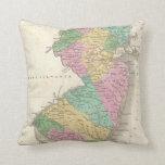 Mapa del vintage de New Jersey (1827) Almohada