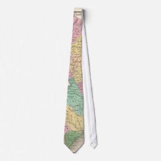 Mapa del vintage de New Jersey (1827) Corbata Personalizada