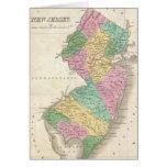 Mapa del vintage de New Jersey (1827) Felicitacion