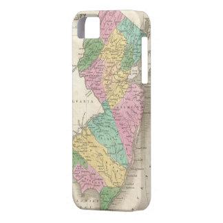 Mapa del vintage de New Jersey (1827) iPhone 5 Case-Mate Cobertura