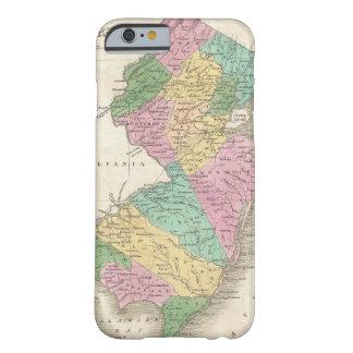 Mapa del vintage de New Jersey (1827) Funda De iPhone 6 Slim