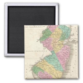 Mapa del vintage de New Jersey (1827) Imán Para Frigorífico