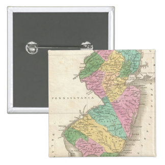 Mapa del vintage de New Jersey 1827 Pin