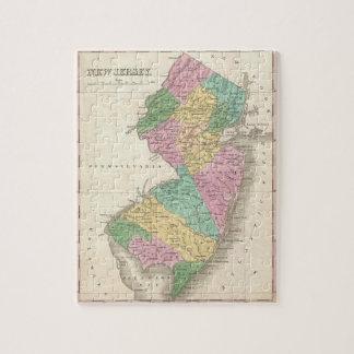 Mapa del vintage de New Jersey (1827) Puzzles Con Fotos