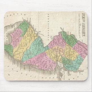 Mapa del vintage de New Jersey (1827) Tapete De Ratones