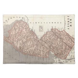 Mapa del vintage de New Jersey (1845) Manteles