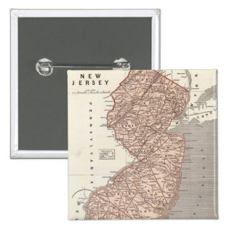 Mapa del vintage de New Jersey 1845 Pins