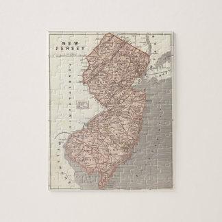 Mapa del vintage de New Jersey (1845) Puzzles