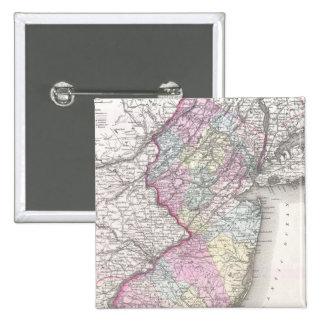 Mapa del vintage de New Jersey 1855 Pins