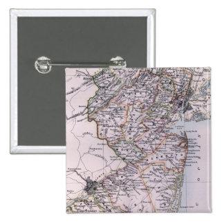Mapa del vintage de New Jersey 1884 Pins