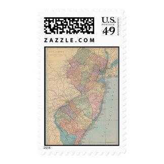 Mapa del vintage de New Jersey Envio