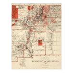 Mapa del vintage de New México (1882) Postal