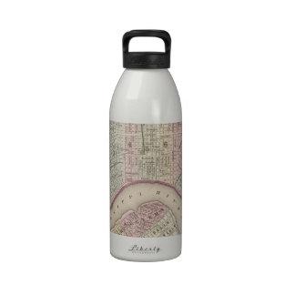 Mapa del vintage de New Orleans (1880) Botella De Agua Reutilizable