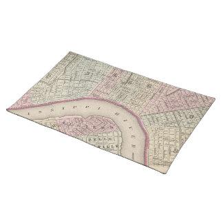 Mapa del vintage de New Orleans (1880) Mantel Individual