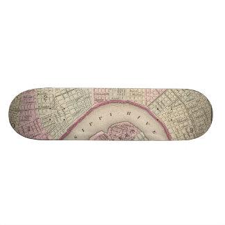 Mapa del vintage de New Orleans (1880) Patineta Personalizada