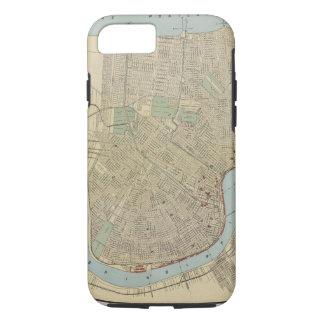 Mapa del vintage de New Orleans (1919) Funda iPhone 7