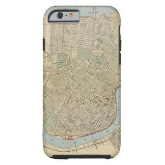 Mapa del vintage de New Orleans (1919) Funda Para iPhone 6 Tough