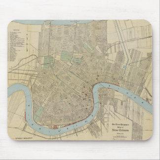Mapa del vintage de New Orleans (1919) Tapete De Ratón