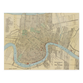 Mapa del vintage de New Orleans (1919) Postal