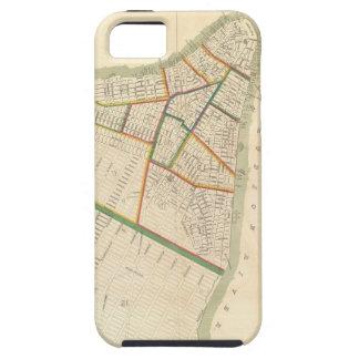 Mapa del vintage de New York City (1831) iPhone 5 Case-Mate Carcasa