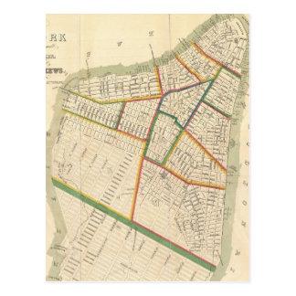 Mapa del vintage de New York City (1831) Tarjeta Postal