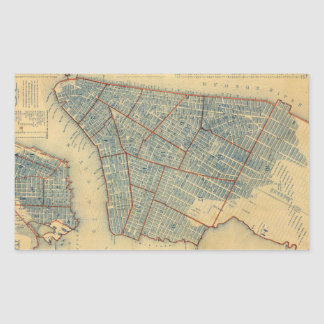 Mapa del vintage de New York City (1846) Rectangular Altavoces