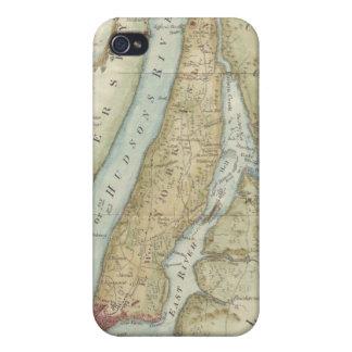 Mapa del vintage de New York City (1869) iPhone 4 Funda